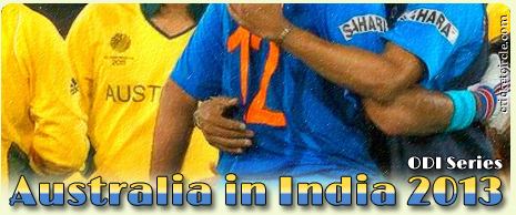 India vs Australia ODI Cricket Series 2013