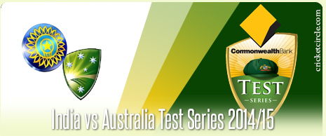India vs Australia Test Cricket Series 2014-15